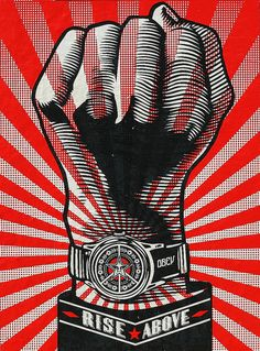 Obey / Shepard Fairey : Rise Above  - Glastonbury Festival 2010 by bobaliciouslondon, via Flickr