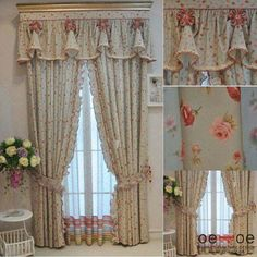 images attach c 9 108 151 Fancy Curtains, Curtains And Draperies, Shabby Chic Curtains, Colorful Curtains, Living Room Decor Curtains, Bedroom Decor, Rideaux Shabby Chic, Luxury Nursery, Beautiful Curtains