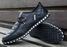 Men's Trend Fashion Leather Sneakers - Hot100Fashions