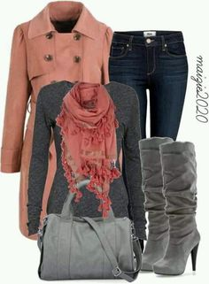 grays and pinks for fall