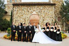Classic black and white wedding || Bella Collina
