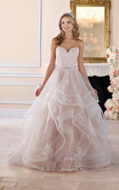 blush pink wedding gown by Stella York