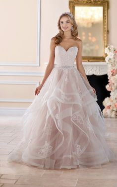 blush pink wedding gown by Stella York