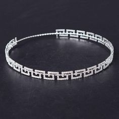 HG617 2017 Crystal New Greek Key Full Circle Crown Bridal Jewelry Accessory Tiara Headband