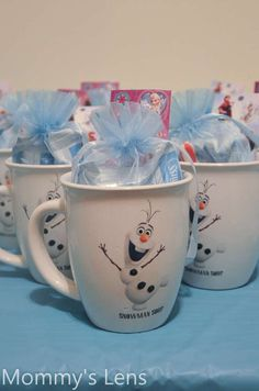 Frozen Birthday Party Favors!