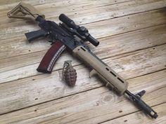 Post on gunsblades Weapons Guns, Guns And Ammo, Custom Guns, Assault Rifle, Tactical Gear, Survival Gear, Airsoft, Firearms, Arsenal