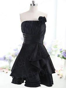 little black bridesmaid dress | ... Short-Evening-Prom-Dress-Little-Black-Party-Dress-Bridesmaid-Dress-New