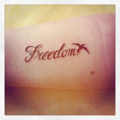 This tattoo is important to me because freedom is something that describe me!