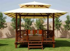 Phenomenal 9 Incredible Gazebo Design Ideas For Comfortable Backyard Building a gazebo in your home is the right choice if you want to utilize the remaining land or beautify your home page. Gazebo or what we commonly ca. Backyard Pavilion, Backyard Garden Landscape, Backyard Gazebo, Large Backyard, Small Patio, Garden Pallet, Fence Garden, Terrace Garden, Water Garden