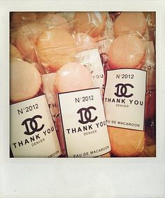 jaala | Printables French Macaroons Chanel Party Favors Thank you Gifts