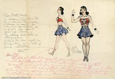 The original 1941 concept sketches for wonderwoman. These were sold in an auction in 2002 for $33,000