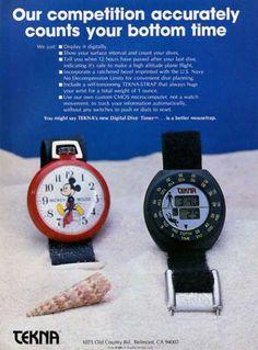 Tekna Watch Ad, Dive History