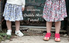 Quick and Easy - Bubble Skirt Tutorial - The Cottage Mama (sizes 6months-14 years)