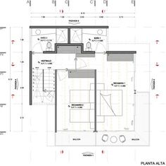 Image 40 of 42 from gallery of Chipicas Town Houses / Alejandro Sanchez Garcia Arquitectos. First Floor Plan Small House Plans, House Floor Plans, The Plan, How To Plan, Three Story House, Small Villa, Casa Loft, Narrow House, Weekend House