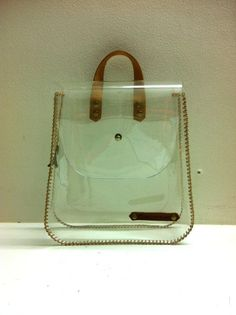 101f1d28ff30 Cosmetic Bag Transparent Handbag See through bag by SkinnyMacaque