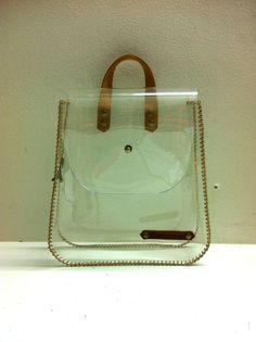 Cosmetic Bag Transparent Handbag See through bag by SkinnyMacaque, $38.00