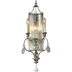 Gianna Gilded Silver Crystal Sconce