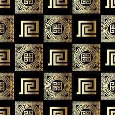 Black Background Wallpaper, Gold Wallpaper, Versace Wallpaper, Boutique Interior, Versace Pattern, Black And Gold Bathroom, Abstract Shapes, Textured Walls, Traditional Design