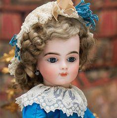 "19"" (49 cm) Antique French Bisque Bebe Bru Jne R doll w/ Original Body"