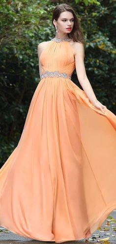 eDressit Sexy Orange Beaded Occasion Dress