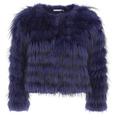 Alice + Olivia Fawn blue fur jacket ($1,665) ❤ liked on Polyvore featuring outerwear, jackets, tops, blue fur jacket, blue jackets, alice olivia jacket and fur jacket