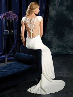 Alfred Angelo Bridal Style 401 from Sapphire Wedding Dresses Crepe Wedding Dress, Gorgeous Wedding Dress, Wedding Looks, Wedding Dresses, Wedding Stuff, Dream Wedding, Wedding Ideas, Alfred Angelo Bridal, Perfect Bride