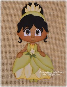 Disney Princess Tiana Premade Scrapbooking Embellishment Paper Piecing