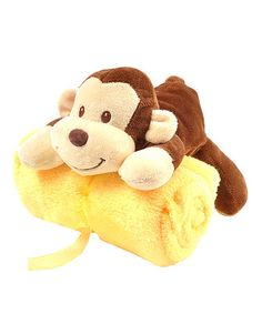 Take a look at this Jungle Monkey Plush Toy & Blanket Set by Linzy Toys on #zulily today!