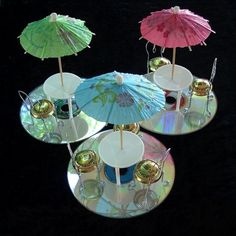 Upcycled miniature patio furniture!
