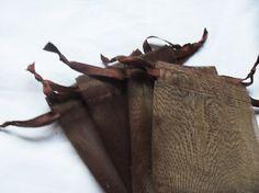 200 Dark Brown Organza bags 3x4 inch by DrawstingOrganzaBag
