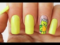 Decoración de uñas tortuga - Turtle nail art - YouTube