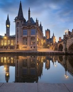 Destination Ideas For Fantastic Winter Trips Places In Europe, Places Around The World, Places To Go, Around The Worlds, Visit Belgium, Ghent Belgium, Villas, Greece House, Living In Europe