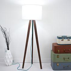 Midcentury Modern Walnut Tripod Lamp: Moderncre8ve