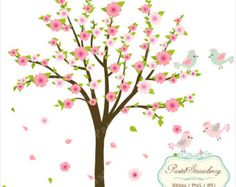 Floral Trees & Heart Personal Or Small by pastelstrawberry