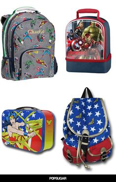 3962ba7da524 38 Superhero Backpacks and Lunch Boxes For Your Little Hero. Your little  hero needs these awesome back to school ...