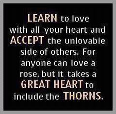 Learn to love with all your heart...
