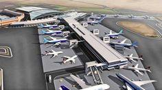 Cairo International Airport new terminal extension B Block to Terminal 2