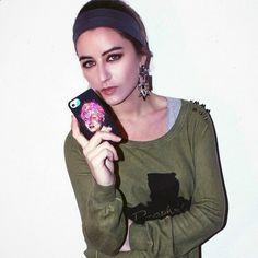 Sophia Salaroli from #LaRagazzaDellaFactory with her Rita  #TwentyfiveSeven #kaneda #sophiasalaroli #iphone #ipad #cover #fashion #ritahayworth #blogger #illustration