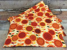 Sunflowers Placemats   Sunflower Decor   Cotton Cloth Handmade Placemats    Country Decor   Table Linen   Set Of 4