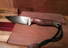 Finished blade, 1095 steel, sycamore, copper...