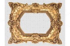 Baroque golden frame PNG by LiliGraphie on Creative Market