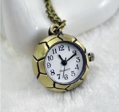 Cartoon  football  pocket watch necklaceV 28 by XsisterJewelry, $4.99