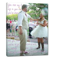 First dance photo on canvas