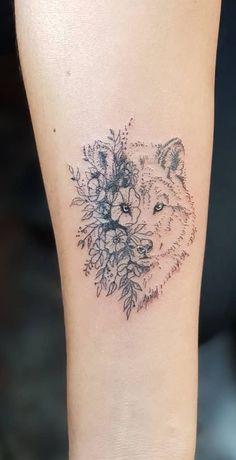 minimalist wolf tattoo