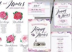Bespoke wedding design Jenny and James