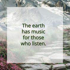 The earth has music for those who listen. #natur #nature #nurnatur #nurnaturblog #seele #landschaft #berg #wandern #wanderlust #hikingadventures #naturlover #freizeit #enjoylife #mesch #österreich #oberösterreich #quote #spruch #inspiration #free #adventure #life Berg, Wanderlust, Earth, Inspiration, Music, Ski, Road Trip Destinations, Tours, Hiking