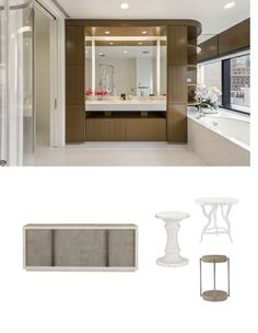 Make classic white pop with textured accents in neutral tones. Avenue Design, Find Furniture, Neutral Tones, Classic White, Own Home, Luxury Travel, Mirror, Room, Home Decor