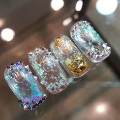 Aquarium Nails Elegant Nail Designs, Elegant Nails, Beautiful Nail Designs, Cute Nail Designs, Get Nails, Love Nails, Hair And Nails, Gorgeous Nails, Pretty Nails