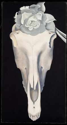 Horse's Skull with White Rose by Georgia O'Keeffe