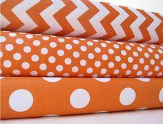 Gorgeous, irresistible orange! Build your fabric stash with this great selection of Riley Blake Designs fabulous orange and white fabrics.  #rileyblakedesigns #orange #chevron #dot